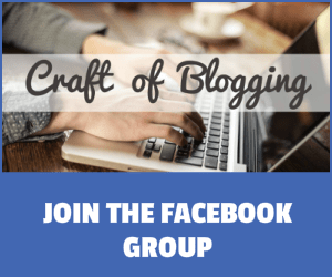 Craft of Blogging Facebook Group Image