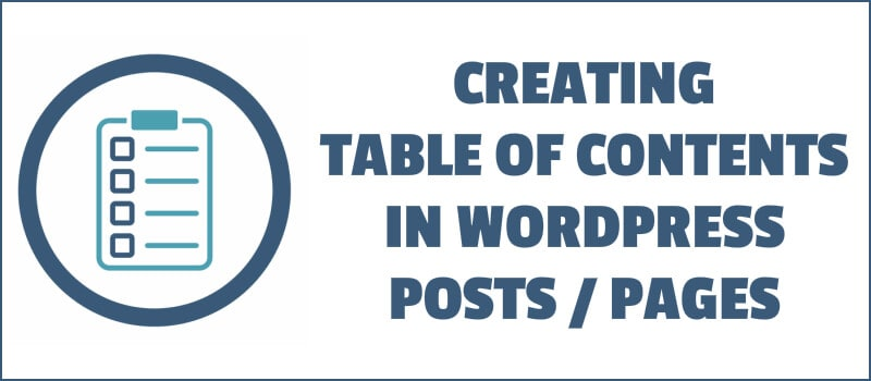Creating Table of Contents in WordPress