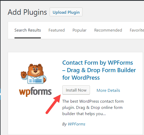 Install the WordPress Pluign