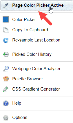 Page Color Picker Option