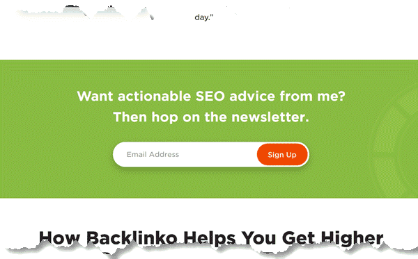 About Page of Backlinko