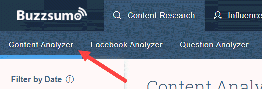 Content Analyzer in Buzzsumo