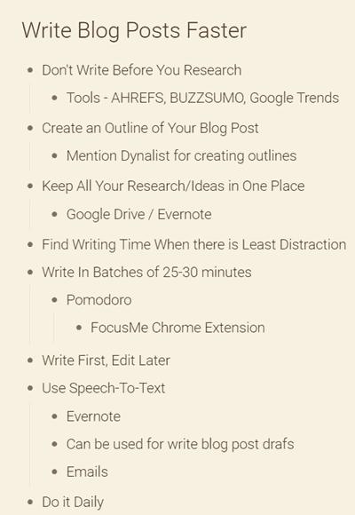 Dynalist Outline for Blog Post