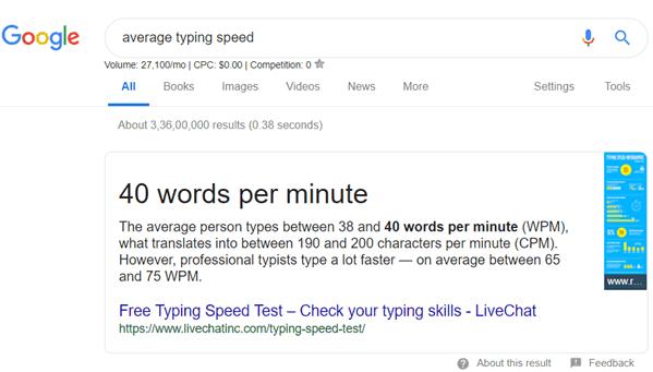 Write Blog Posts Faster - Average Typing Speed
