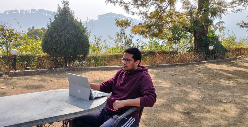 Working from the hills